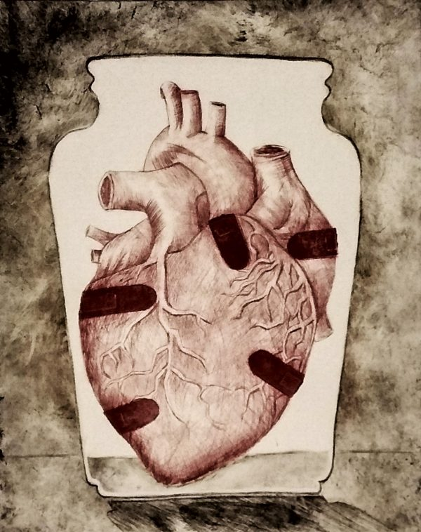 039 - Wounded Heart - Print
